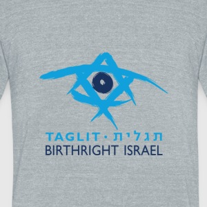Birthright Israel - Unisex Tri-Blend T-Shirt by American Apparel