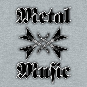 metal music guitars - Unisex Tri-Blend T-Shirt by American Apparel