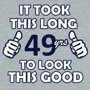 49th birthday designs - Unisex Tri-Blend T-Shirt by American Apparel