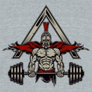 Spartan Weight Lifter - Perfect Gift For Gym Rats - Unisex Tri-Blend T-Shirt by American Apparel