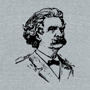 Mark Twain - Unisex Tri-Blend T-Shirt by American Apparel