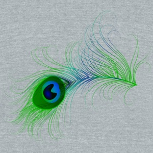 Peacock Feather - Unisex Tri-Blend T-Shirt by American Apparel