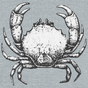 Crab - Unisex Tri-Blend T-Shirt by American Apparel