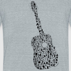 Guitar Typography - Unisex Tri-Blend T-Shirt by American Apparel