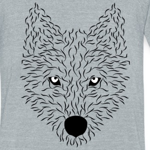 wolf - Unisex Tri-Blend T-Shirt by American Apparel