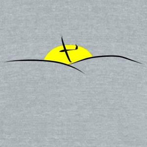 sunset glider pilot - Unisex Tri-Blend T-Shirt by American Apparel