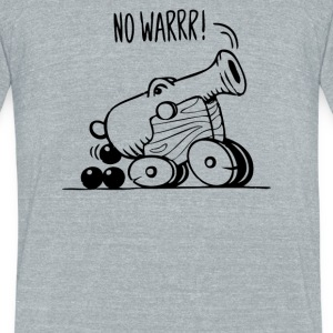 No War - Unisex Tri-Blend T-Shirt by American Apparel