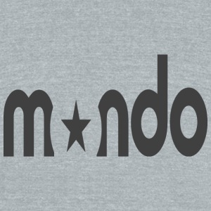 mondo_logo - Unisex Tri-Blend T-Shirt by American Apparel