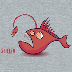 Selfish - Unisex Tri-Blend T-Shirt by American Apparel