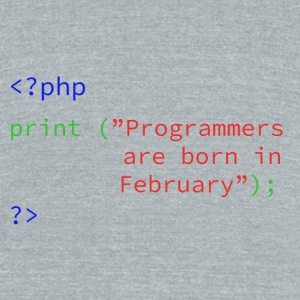 Programmers Month - Unisex Tri-Blend T-Shirt by American Apparel
