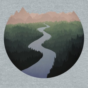 Get Lost With Me - Unisex Tri-Blend T-Shirt by American Apparel