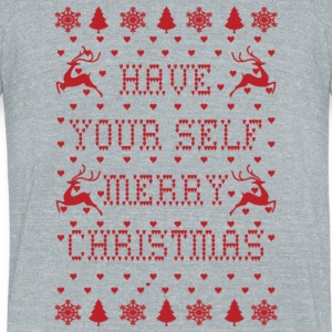 Merry Christmast - Unisex Tri-Blend T-Shirt by American Apparel