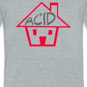 Acid House - Unisex Tri-Blend T-Shirt by American Apparel