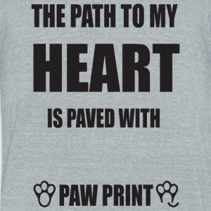 Rabbit - The path to my heart is paved with rabb - Unisex Tri-Blend T-Shirt by American Apparel