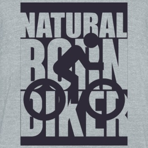 Biker - Natural born biker - Unisex Tri-Blend T-Shirt by American Apparel