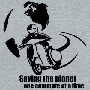 Men - saving the planet one commute at a time - Unisex Tri-Blend T-Shirt by American Apparel