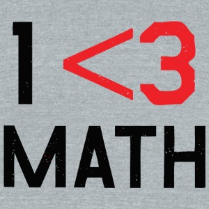 Math - Less Than 3 - Unisex Tri-Blend T-Shirt by American Apparel