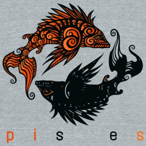 Pisce - pisces - Unisex Tri-Blend T-Shirt by American Apparel