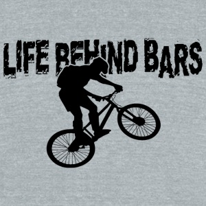 Bar - life behind bars - Unisex Tri-Blend T-Shirt by American Apparel