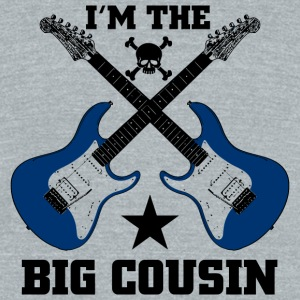 Cousin - I'm The Big Cousin - Unisex Tri-Blend T-Shirt by American Apparel