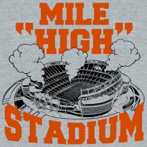 Stadium - mile high stadium - Unisex Tri-Blend T-Shirt by American Apparel