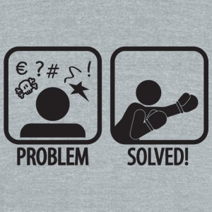 Boxing - Boxing: Problem solved! - Unisex Tri-Blend T-Shirt by American Apparel