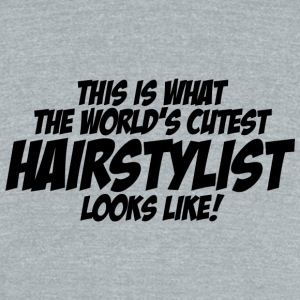 Hairstylist - this is what the world's cutest ha - Unisex Tri-Blend T-Shirt by American Apparel