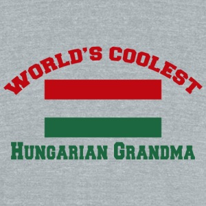 Hungarian - world's coolest hungarian grandma - Unisex Tri-Blend T-Shirt by American Apparel