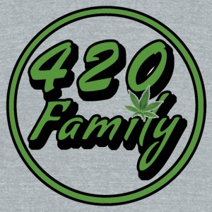 420 Family green - Unisex Tri-Blend T-Shirt by American Apparel