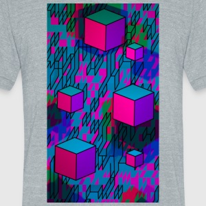 Retro Cubes - Unisex Tri-Blend T-Shirt by American Apparel