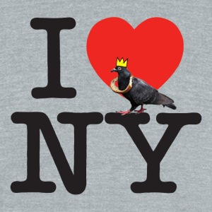 i pigeon ny crown - Unisex Tri-Blend T-Shirt by American Apparel