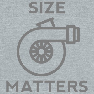 Size Matters - Unisex Tri-Blend T-Shirt by American Apparel