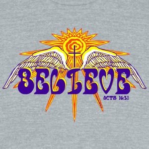 BELIEVE - Unisex Tri-Blend T-Shirt by American Apparel