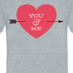 You And Me Arrow Through Heart Valentine - Unisex Tri-Blend T-Shirt by American Apparel