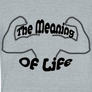The Meaning Of Live (muscles) - Unisex Tri-Blend T-Shirt by American Apparel