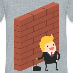 Build The Wall Trump - Unisex Tri-Blend T-Shirt by American Apparel