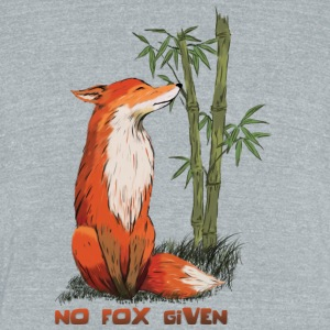 No Fox Given - Unisex Tri-Blend T-Shirt by American Apparel