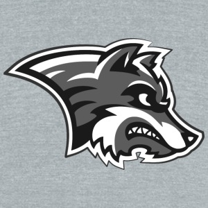 wolf logo - Unisex Tri-Blend T-Shirt by American Apparel