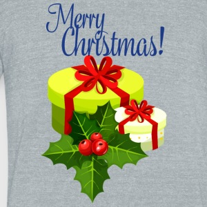 merry-christmas - Unisex Tri-Blend T-Shirt by American Apparel