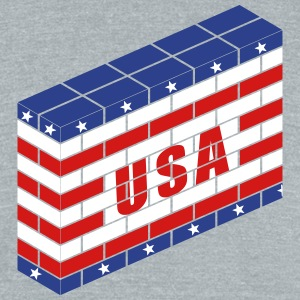 The American Wall - Unisex Tri-Blend T-Shirt by American Apparel