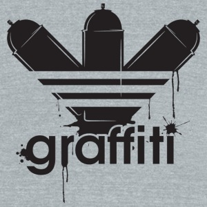 Cool graffiti tag style adidass - Unisex Tri-Blend T-Shirt by American Apparel