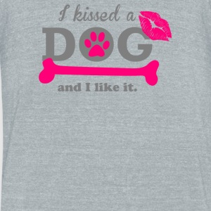 I Kissed A Dog - Unisex Tri-Blend T-Shirt by American Apparel