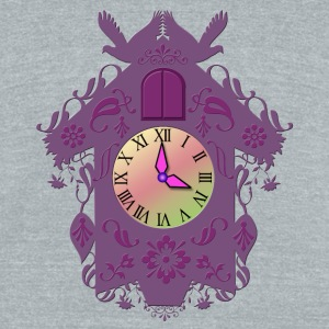 Cuckoo clock - Unisex Tri-Blend T-Shirt by American Apparel