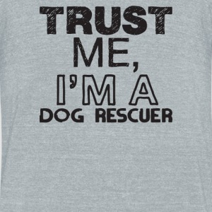 dog rescuer - Unisex Tri-Blend T-Shirt by American Apparel