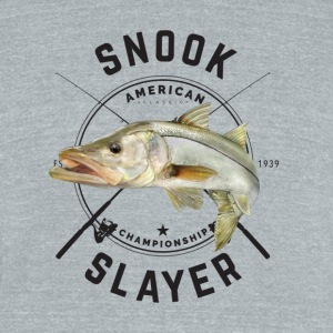 Snook Fishing - Unisex Tri-Blend T-Shirt by American Apparel