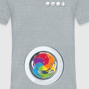 Rainbow Laundry - Unisex Tri-Blend T-Shirt by American Apparel