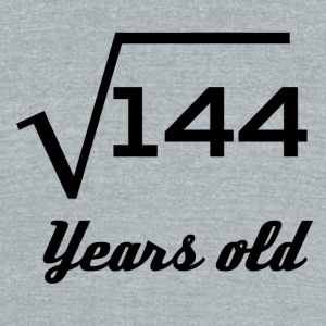Square Root Of 144 12 Years Old - Unisex Tri-Blend T-Shirt by American Apparel