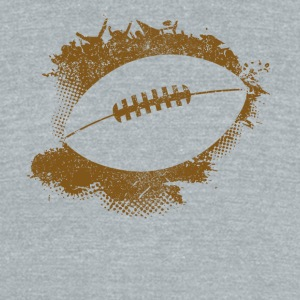 Football Paint Splatter - Unisex Tri-Blend T-Shirt by American Apparel