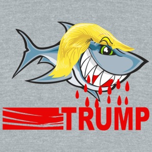 trumpsharkblood - Unisex Tri-Blend T-Shirt by American Apparel