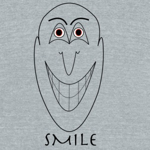SMILE - Unisex Tri-Blend T-Shirt by American Apparel